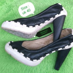 Touch Me Shoe- Black and White